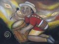 Niño Indígena y Tambor