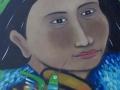 Mujer Indigena y Colibri
